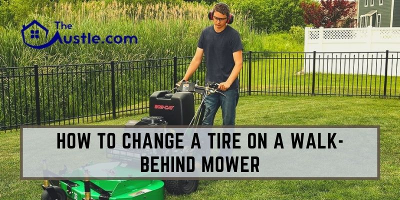 How To Change A Tire On A Walk-behind Mower