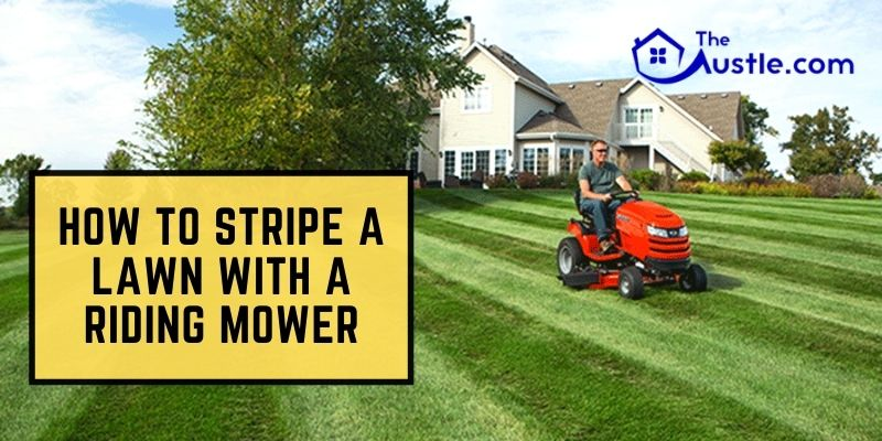 How to Stripe a Lawn With a Riding Mower