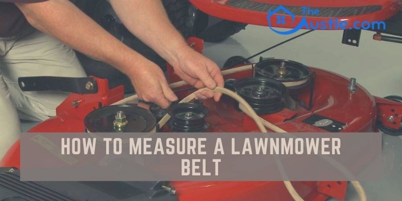 How to measure a lawnmower belt
